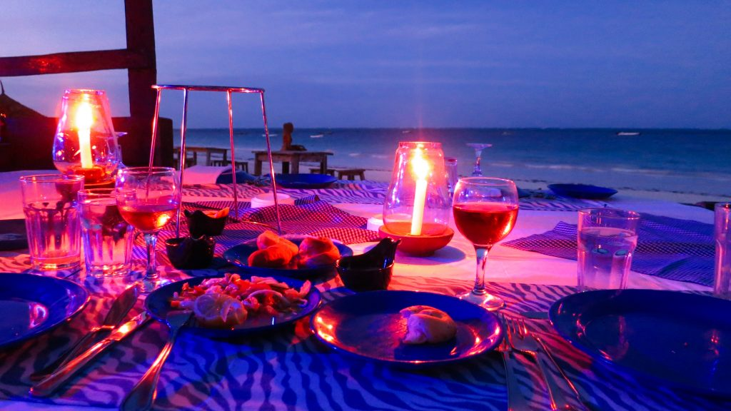 Sansibar Abendessen am Meer